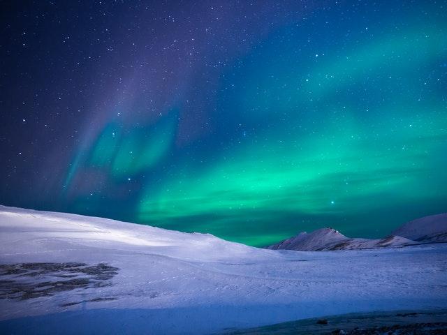 Norrsken och snö